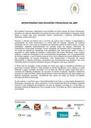 Consulte aqui o Programa dos dias 9 e - Área Metropolitana do Porto