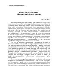 Assim falou Saramago - Latin American Centre