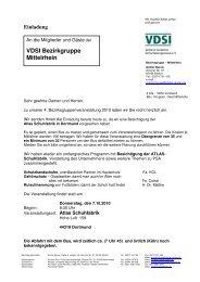 VDSI Bezirkgruppe Mittelrhein