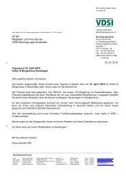 Einladungsschreiben 16. April 2010 - VDSI