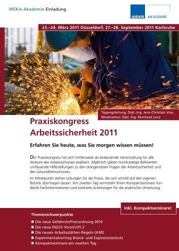 Praxiskongress Arbeitssicherheit 2011 - VDSI