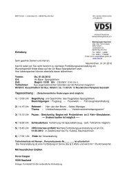 Einladung + Anmeldung - VDSI