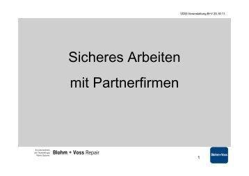 """Präsentation """"Sicheres Arbeiten mit Partnerfirmen"""" - VDSI"""