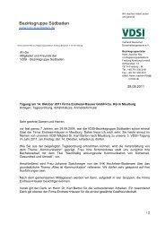 Bezirksgruppe Südbaden - VDSI