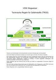 VDSI Wegweiser Technische Regeln für Gefahrstoffe (TRGS)
