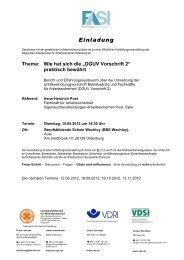 Einladung/ Anreise - VDSI