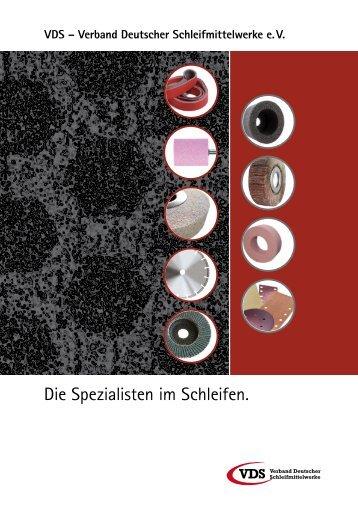 Die Spezialisten im Schleifen. - VDS Verband Deutscher ...