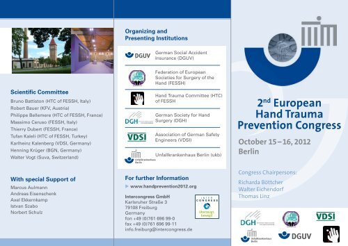 2nd European Hand Trauma Prevention Congress October 15 - VDSI