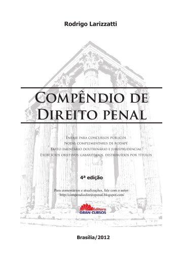 Compêndio de Direito penal Rodrigo Larizzatti - Gravo Papers