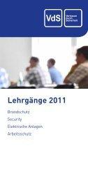 Lehrgänge 2011 - VdS
