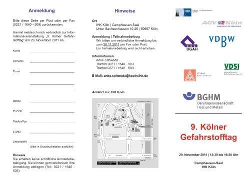 Einladung/ Anmeldung - VDSI