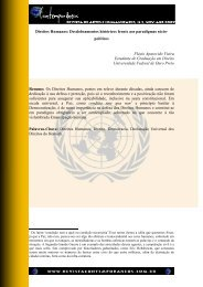 Direitos Humanos: Desdobramentos históricos frente - Revista ...