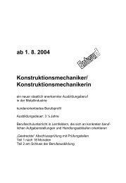 ab 1. 8. 2004 Konstruktionsmechaniker ... - VDWF
