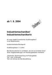 Richtlinienentwurf Industriemechaniker - VDWF