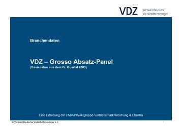 2003 VDZ - Grosso Absatz-Panel