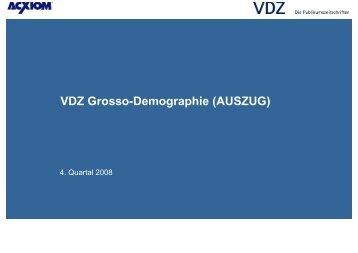 VDZ Grosso-Demographie (AUSZUG)