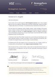 StrategyFacts Quarterly - VDZ
