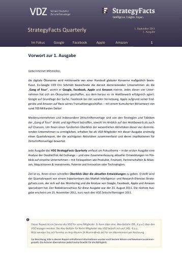 Muster Report/Erste Ausgabe, inkl. Bestellinfos zum Download - VDZ