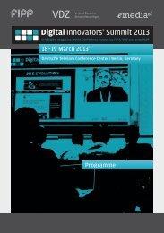 Download Digital Innovators Summit 2013 PDF - VDZ