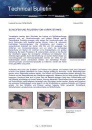 Schleifen und polieren von Vorratstank