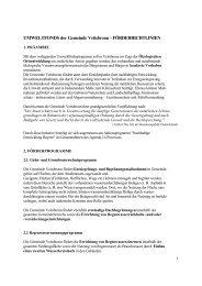 UMWELTFONDS der Gemeinde Veitsbronn - FÖRDERRICHTLINIEN