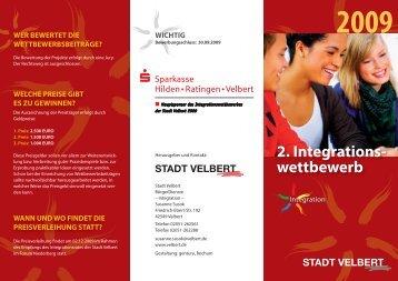 2. Integrations- wettbewerb - Stadt Velbert
