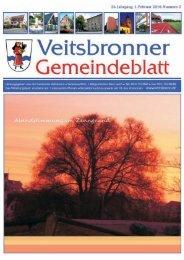 Veranstaltungskalender Februar 2010 - Veitsbronn