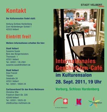 Internationales Geschichten-Café - Stadt Velbert