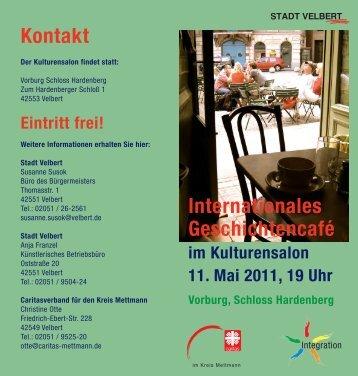 Internationales Geschichtencafé Kontakt - Stadt Velbert