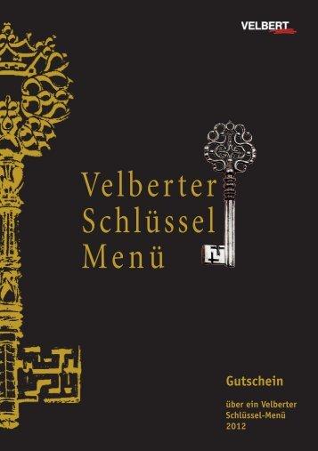 Velberter Schlüssel Menü - Velbert Marketing GmbH