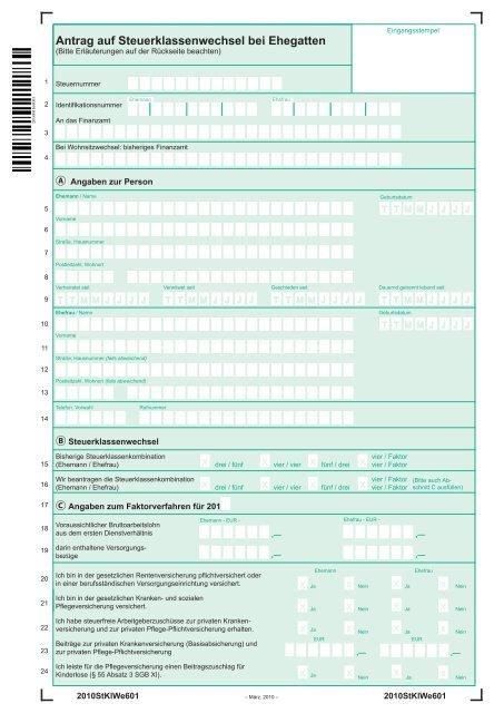 formular steuerklassenwechsel 2020