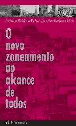 O Novo Zoneamento - Prefeitura de São Paulo