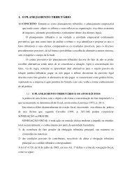 1. O PLANEJAMENTO TRIBUTÁRIO - Ucg