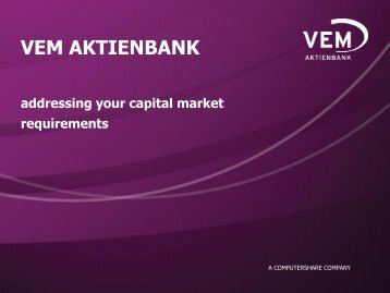 REFERENCE - VEM Aktienbank AG