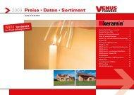 2009 Preise Daten Sortiment - beim Venus Tonwerk