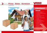 2010 Preise · Daten · Sortiment - beim Venus Tonwerk