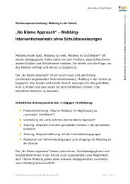 Workshopausschreibung No Blame Approach 1 - Verantwortung