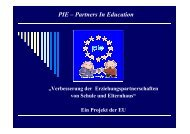 PIE – Partners In Education - Verantwortung