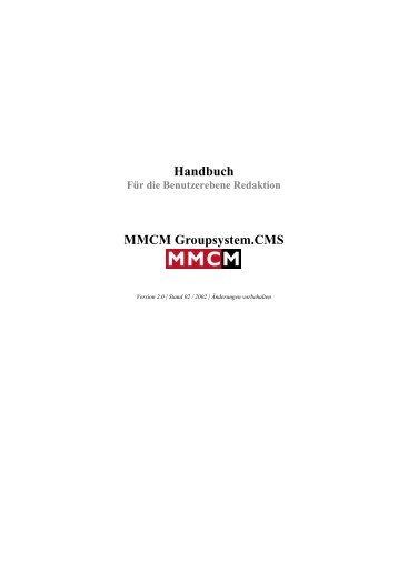 Benutzerhandbuch MMCM Groupsystem - Verband Wohneigentum eV