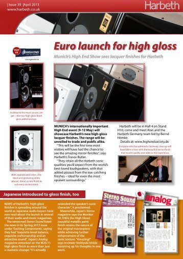 Euro launch for high gloss