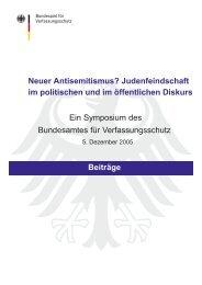 Neuer Antisemitismus? - Bundesamt für Verfassungsschutz