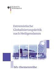 Extremistische Globalisierungskritik nach Heiligendamm