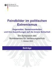 Feindbilder im politischen Extremismus - Bundesamt für ...