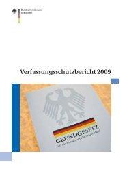 Verfassungsschutzbericht 2009 - des Bundesministerium des Innern ...