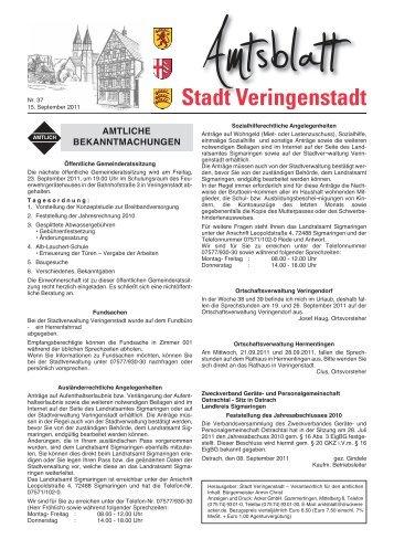 Amtsblatt KW 37 - Veringenstadt