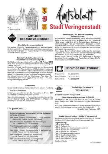 Amtsblatt KW 07 - Veringenstadt