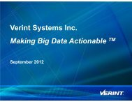 Investor Relations Presentation - Verint Systems Inc.