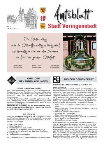 Amtsblatt KW 13 - Veringenstadt