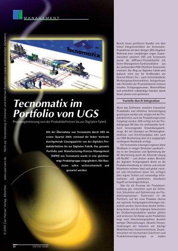 Tecnomatix im Portfolio von UGS (122 KB) - Logistik Journal