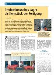 Produktionsnahes Lager als Kernstück der Fertigung - Logistik Journal
